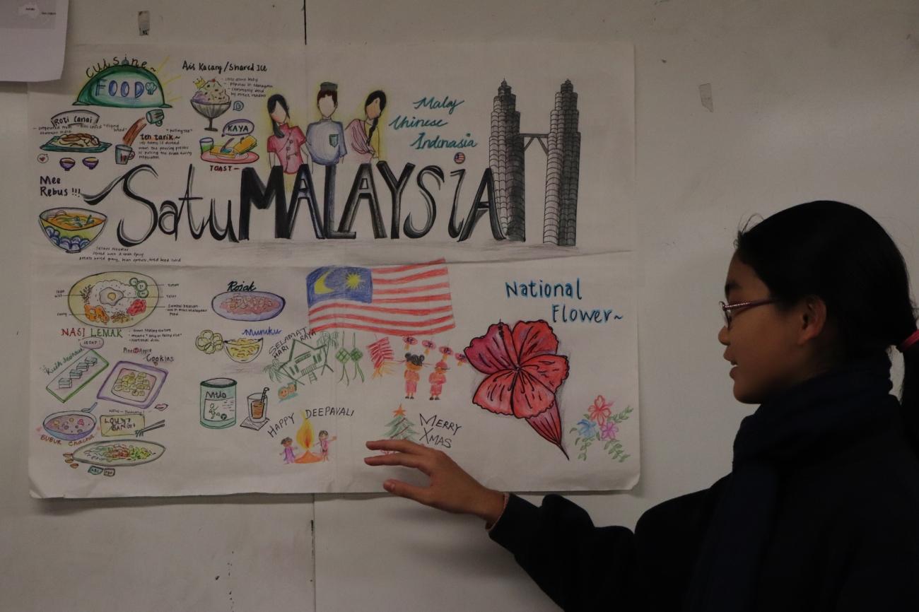 Poster introducing Malaysia
