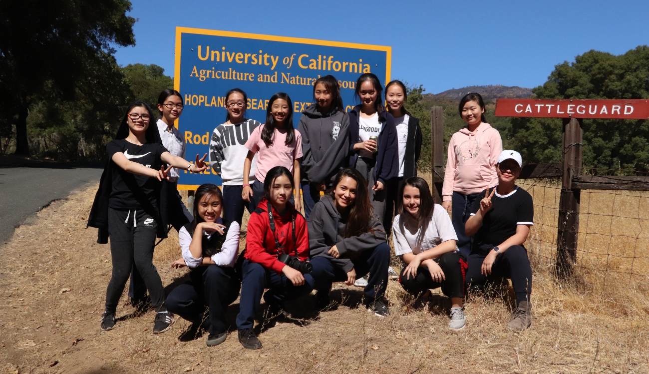 DVGS Class of 2022 at UC Hopland Research Center